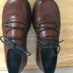 Dansko Lace Up Brown Leather Shoes Size 8 (38)